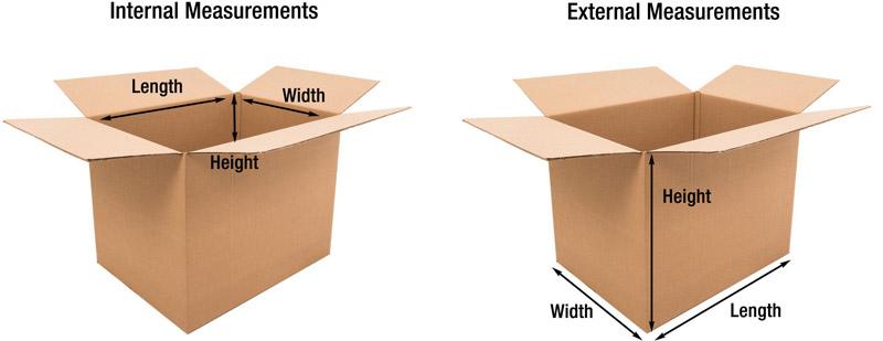 Cardboard Box Measurement