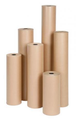 Recycled Brown Kraft Paper Rolls
